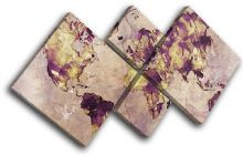 Watercolour  Abstract Maps Flags - 13-6012(00B)-MP19-LO
